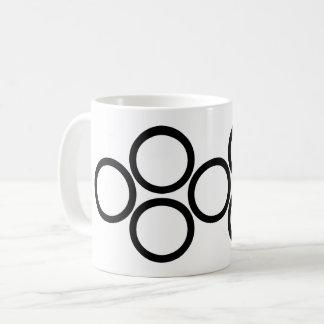 Bold Black Rings on White Coffee Mug