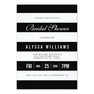 Bold Black | White Stripes Bridal Shower Invite