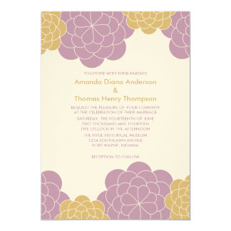 Bold Blooms Modern Wedding Invitations (mauve)