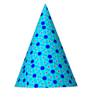 Bold Blue and Teal Party Hat