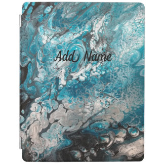 Bold Blue & Black Abstract iPad Smart Cover iPad Cover
