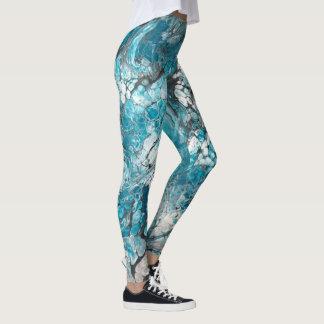 Bold Blue & Black Abstract Leggings