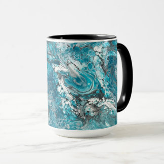 Bold Blue & Black Abstract Mug
