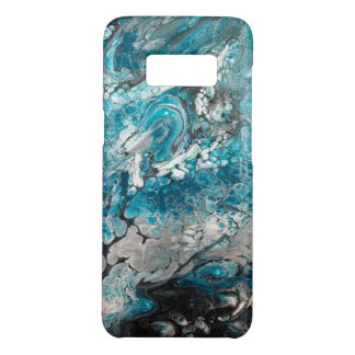 Bold Blue & Black Abstract Samsung Cellphone Case-Mate Samsung Galaxy S8 Case