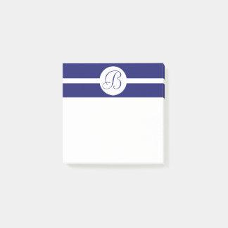 Bold Blue Circle Monogram Post-it Notes