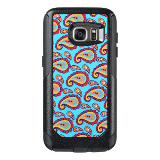 Bold Blue Paisley OtterBox Samsung Galaxy S7 Case