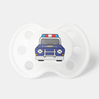 Bold Blue Police Patrol Car Pacifier