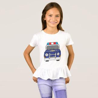 Bold Blue Police Patrol Car T-Shirt