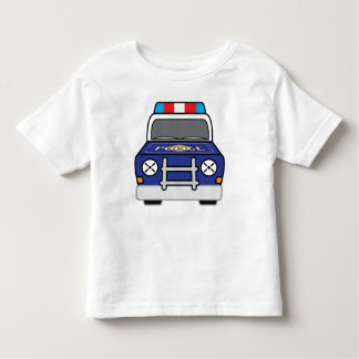 Bold Blue Police Patrol Car Toddler T-shirt