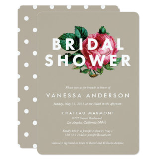 Bold Botanical   Bridal Shower Invitation