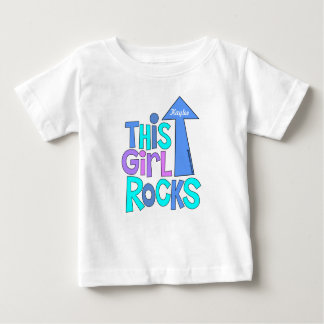 BOLD BRIGHT COLORFUL, THIS GIRL ROCKS CUSTOMIZABLE BABY T-Shirt