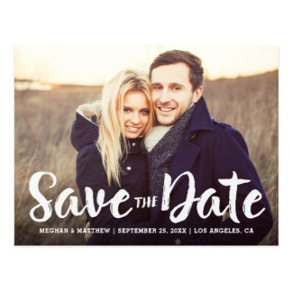 Bold Brushed Save the Date Postcard
