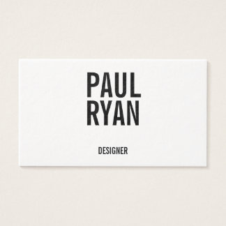Bold business cards