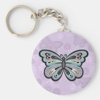 Bold Butterfly button keychain