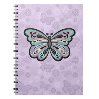 Bold Butterfly spiral notebook