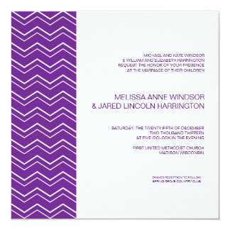 Bold Chevron Stripe Deep Purple Affordable Card
