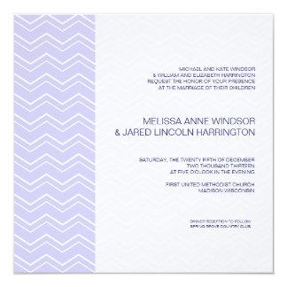 Bold Chevron Stripe Lavender Purple Affordable 5.25x5.25 Square Paper Invitation Card