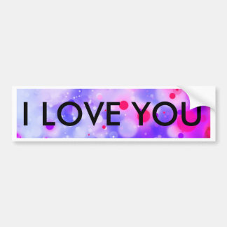 Bold & Chic Blue Pink Watercolor Abstract Bumper Sticker