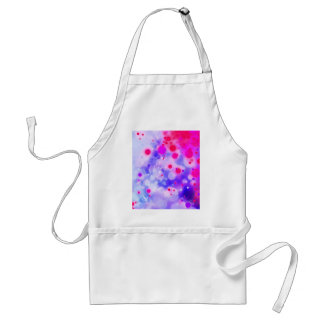 Bold & Chic Blue Pink Watercolor Abstract Standard Apron