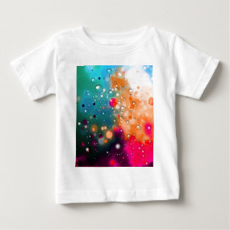 Bold & Chic Blue Red Orange Watercolor Abstract Baby T-Shirt