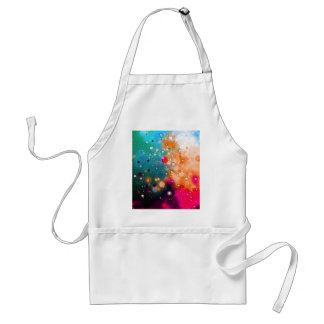 Bold & Chic Blue Red Orange Watercolor Abstract Standard Apron
