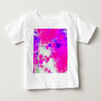 Bold & Chic Floral Pink Watercolor Abstract Baby T-Shirt