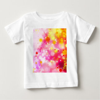 Bold & Chic Fuchsia Pink Watercolor Abstract Baby T-Shirt