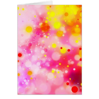 Bold & Chic Fuchsia Pink Watercolor Abstract Card