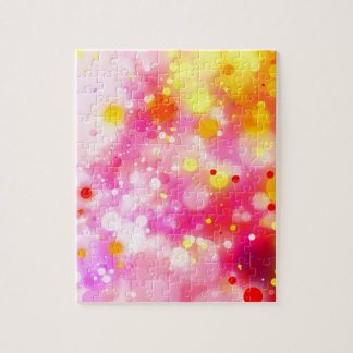 Bold & Chic Fuchsia Pink Watercolor Abstract Jigsaw Puzzle