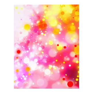 Bold & Chic Fuchsia Pink Watercolor Abstract Letterhead