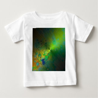 Bold & Chic GREEN TEAL Watercolor Abstract Baby T-Shirt