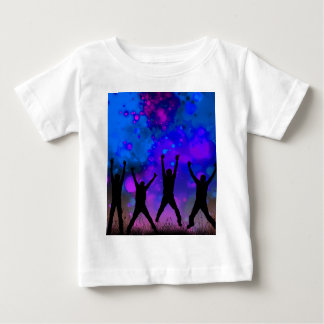 Bold & Chic Jumping for Joy Watercolor Abstract Baby T-Shirt