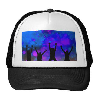 Bold & Chic Jumping for Joy Watercolor Abstract Trucker Hat