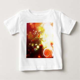 Bold & Chic Peach Red Yellow Watercolor Abstract Baby T-Shirt