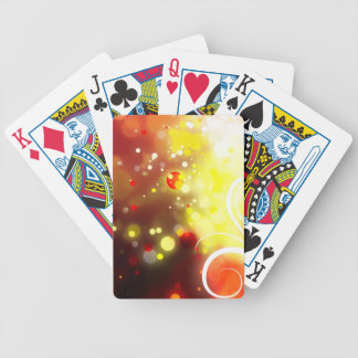 Bold & Chic Peach Red Yellow Watercolor Abstract Poker Deck