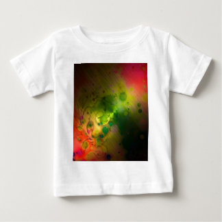 Bold & Chic Red and Green Watercolor Abstract Baby T-Shirt