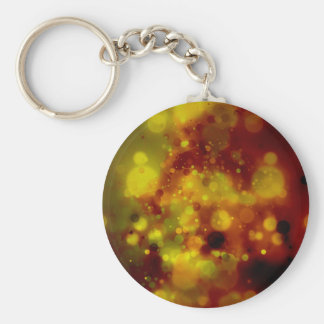 Bold & Chic Red and Yellow Watercolor Abstract Basic Round Button Keychain