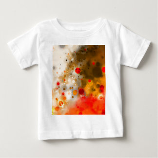 Bold & Chic Red Brown Orange Watercolor Abstract Baby T-Shirt