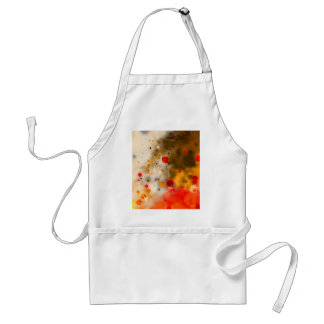 Bold & Chic Red Brown Orange Watercolor Abstract Standard Apron