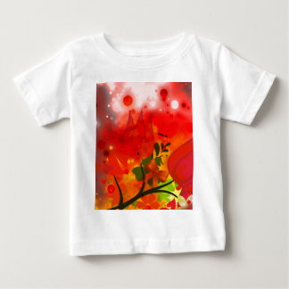 Bold & Chic Red Tulip Watercolor Abstract Baby T-Shirt