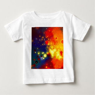 Bold & Chic Red Yellow Blue Watercolor Abstract Baby T-Shirt