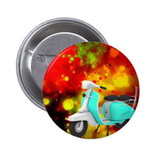 Bold & Chic Scooter Watercolor Abstract 2 Inch Round Button