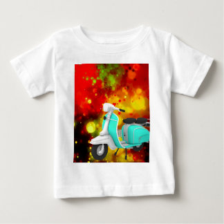 Bold & Chic Scooter Watercolor Abstract Baby T-Shirt