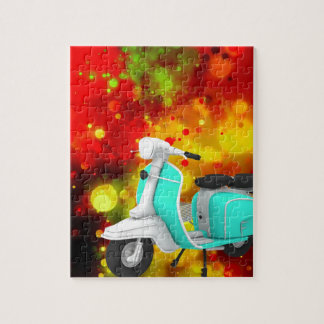 Bold & Chic Scooter Watercolor Abstract Puzzles
