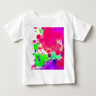 Bold & Chic SQUARE & CIRCLES Watercolor Abstract Baby T-Shirt
