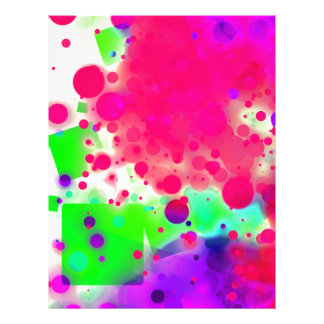 Bold & Chic SQUARE & CIRCLES Watercolor Abstract Letterhead Template