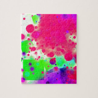 Bold & Chic SQUARE & CIRCLES Watercolor Abstract Puzzle