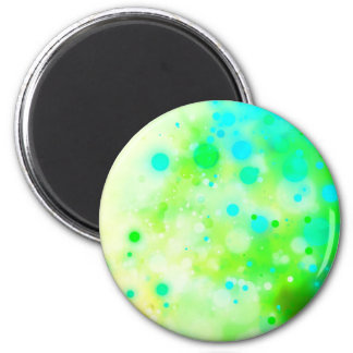 Bold & Chic Teal Green Watercolor Abstract 2 Inch Round Magnet