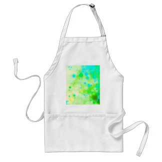 Bold & Chic Teal Green Watercolor Abstract Standard Apron