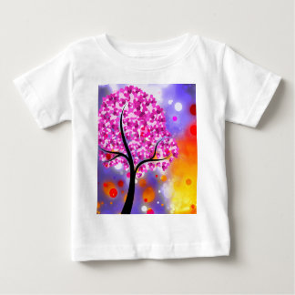 Bold & Chic Tree of Hearts Watercolor Abstract Baby T-Shirt